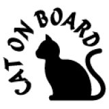 「CAT ON BOARD」ステッカーB タイプ