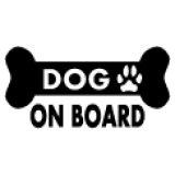 「DOG ON BOARD」ステッカーA タイプ