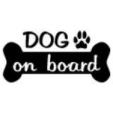 「DOG ON BOARD」ステッカーBタイプ