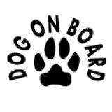 「DOG ON BOARD」ステッカーDタイプ