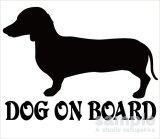 ダックスフンド「DOG ON BOARD」ステッカー