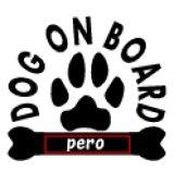 「DOG ON BOARD」ステッカーDタイプ名入れ