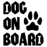 「DOG ON BOARD」ステッカーCタイプ