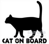 「CAT ON BOARD」ステッカーCタイプ